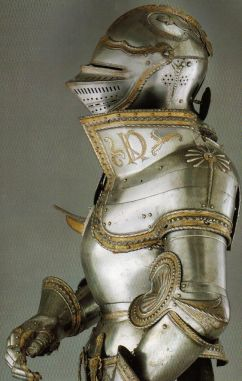 gilded plate armour